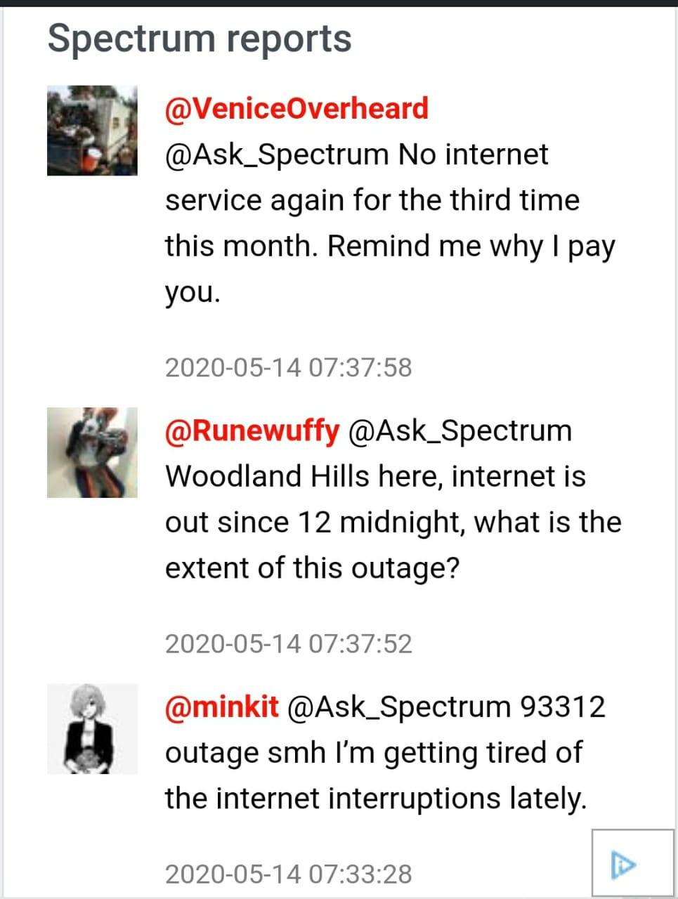 spectrum internet down