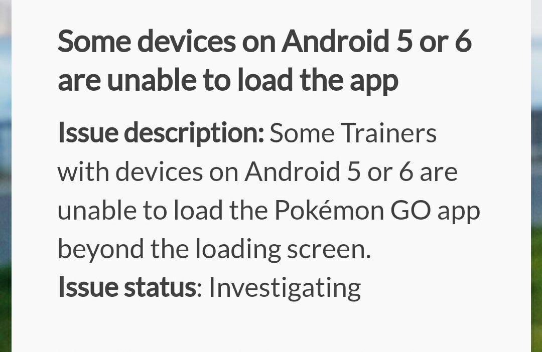 Pokemon Go Crashes