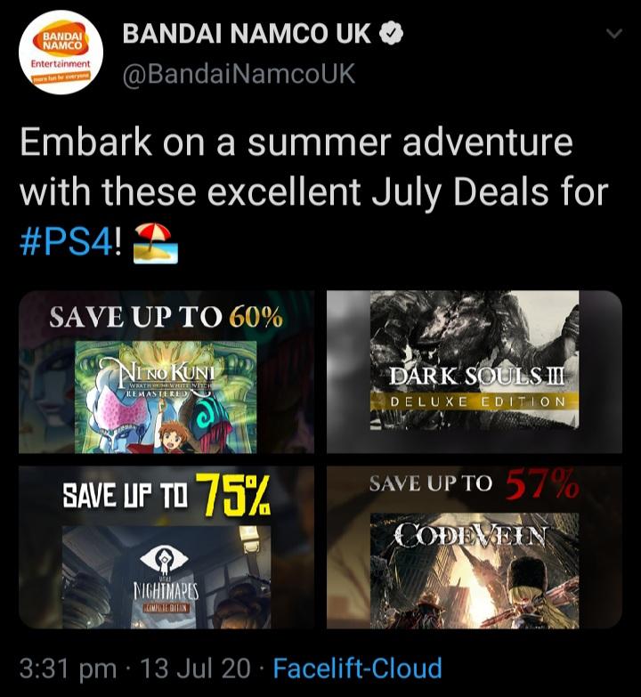 Bandai Namco Tweet