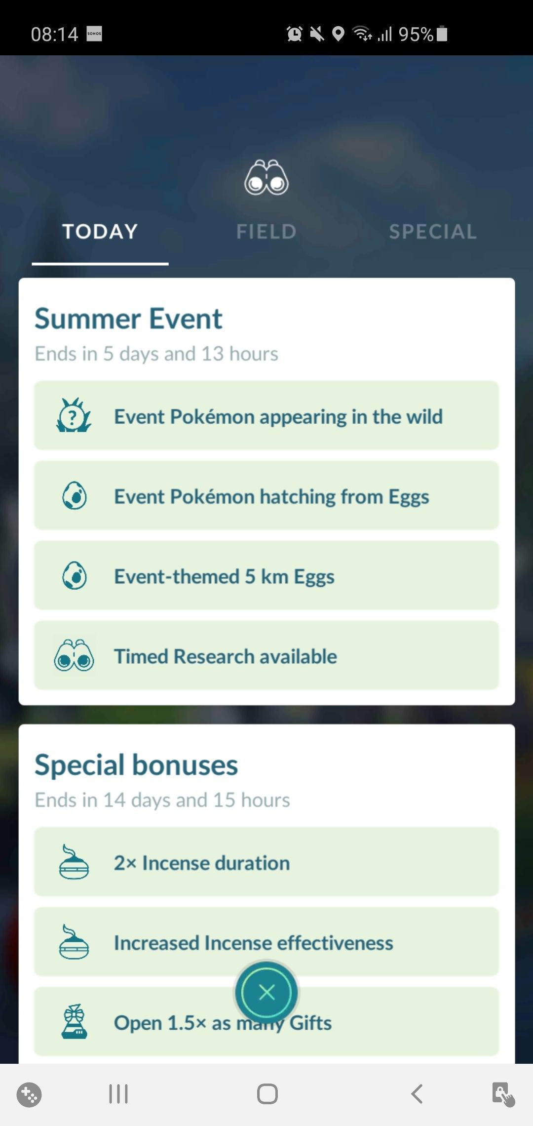 Pokémon Go Summer Research Bug
