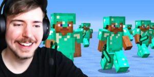 Mr.Beast & Team Vs 100 Minecraft Players Stream Summary