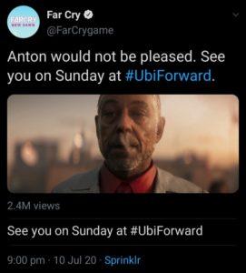 Ubisoft Tweet Regarding Leak