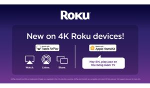 Apple AirPlay & HomeKit available on 4K Roku devices, starting today