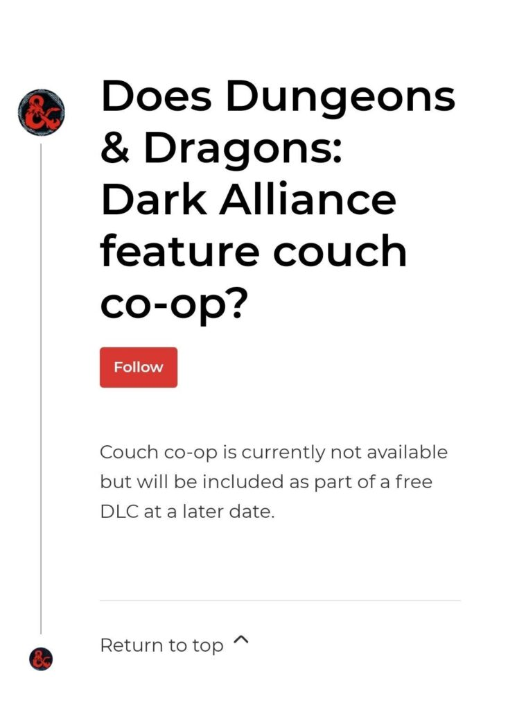 Developer's answer to Couch Co-op feature availability