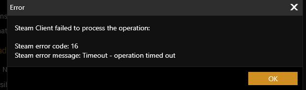 Steam Error 16