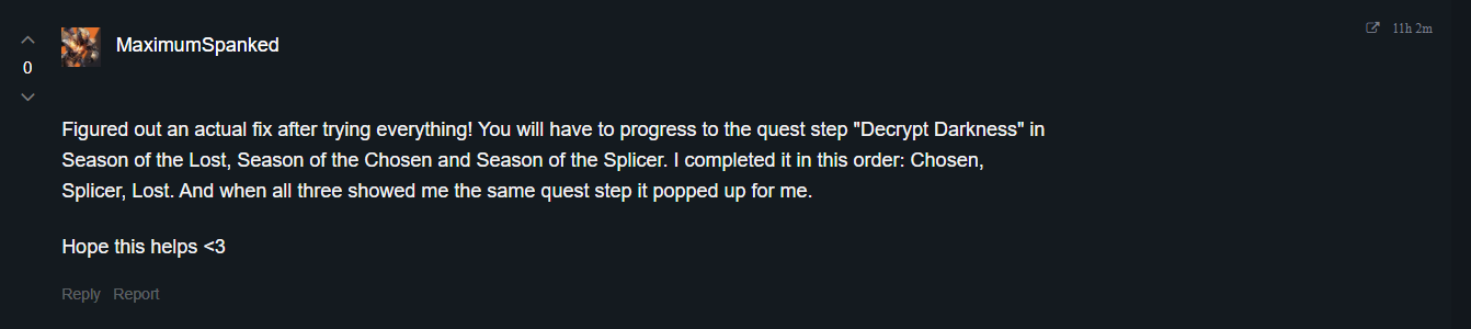 destiny-2-Decrypting-the-Darkness-quest-not showing-up-2021