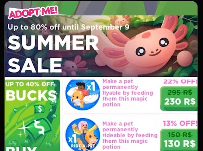 Adopt-me-summer-sale-update-2021