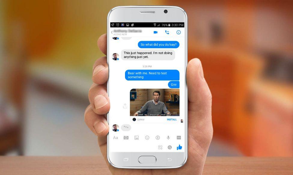 Facebook Messenger GIFs