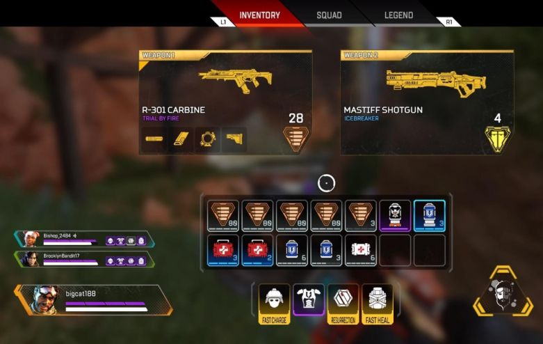 Apex Legends Switch Weapons