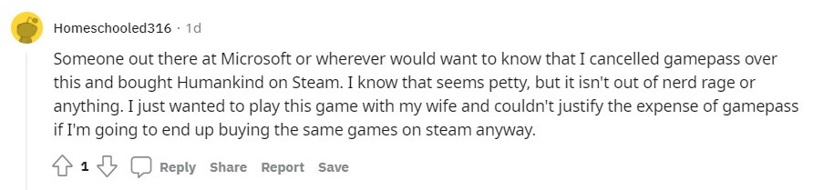 Humankind Xbox game pass
