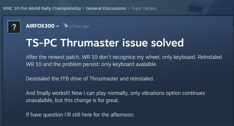 wrc-10-thrustmaster-wheel-not-working-2021